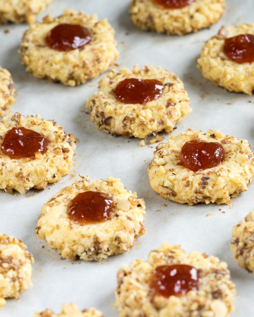 Cookies with walnuts and jam; Shutterstock ID 312887846; Purchase Order: N/A