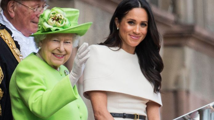 Meghan Duchess of Sussex and Queen
