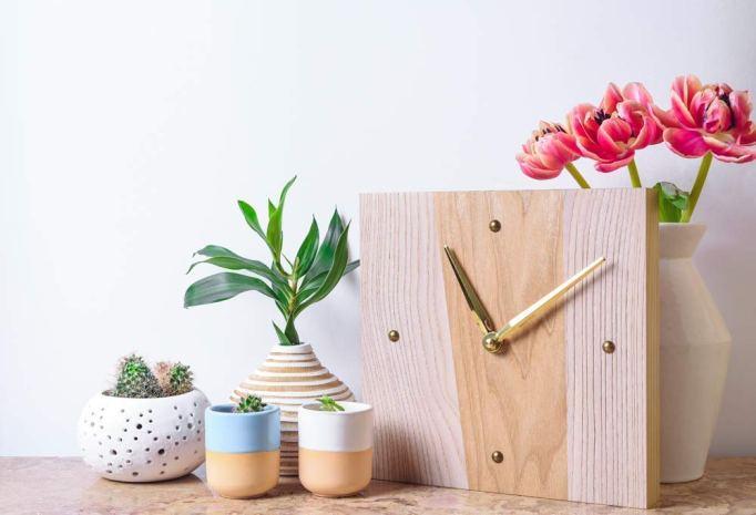 Small wood wall clock