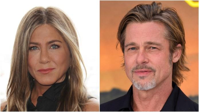 Jennifer Aniston; Brad Pitt.