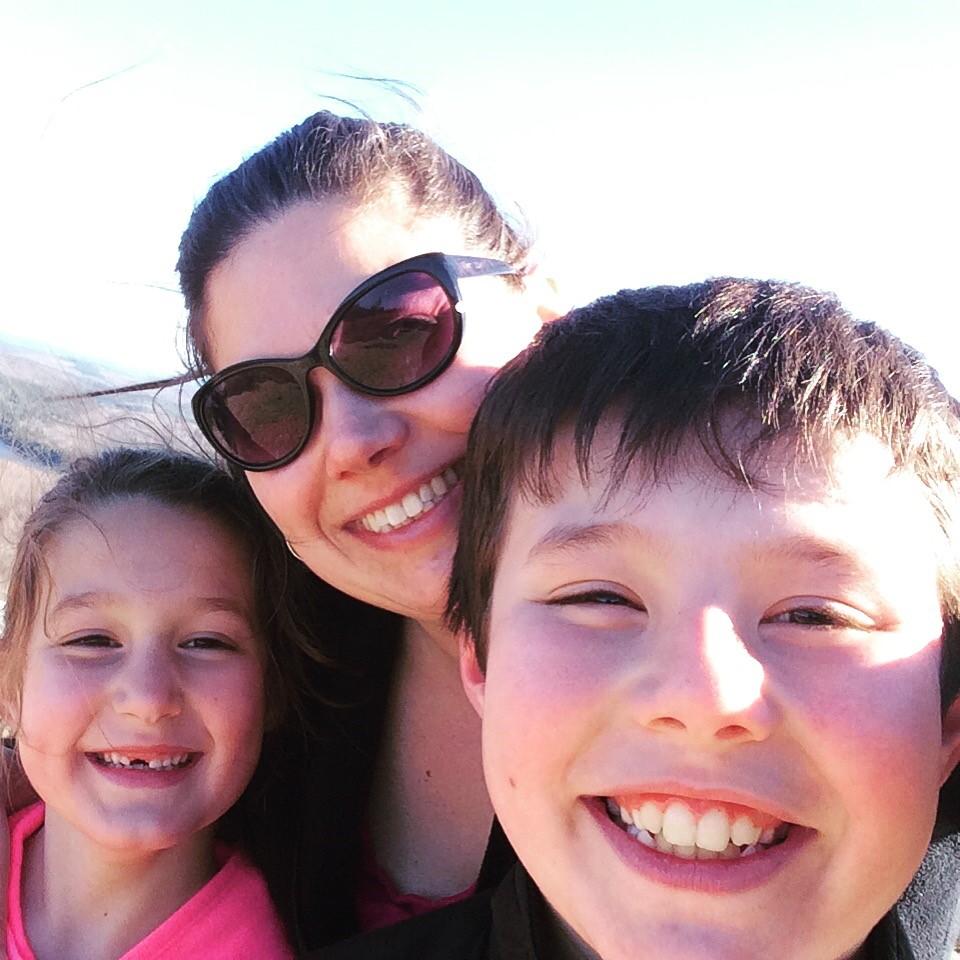Sarah Walker Caron and kids