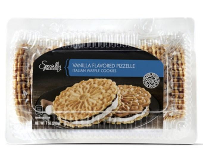 Vanilla Flavored Pizzelle Italian Waffle Cookies.