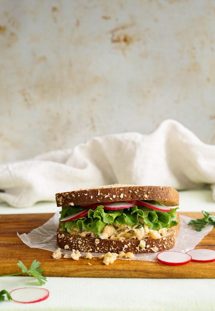 Summer Meatless Monday Recipes: Vegan Smashed Chickpea Salad Sandwich