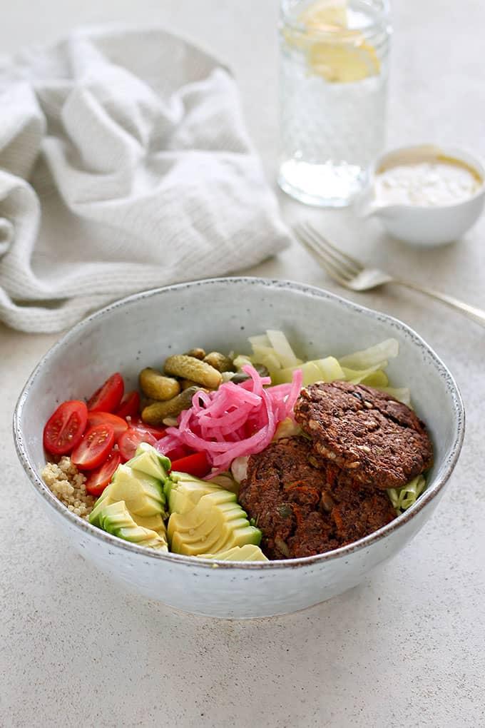 Summer Meatless Monday Recipes: Veggie Burger Bowls