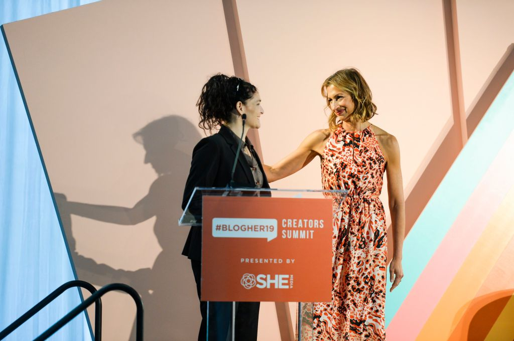 Alysia Reiner and Tara Geer#BlogHer19 Creators Summit at Brooklyn EXPO Center, New York, USA - 19 Sep 2019