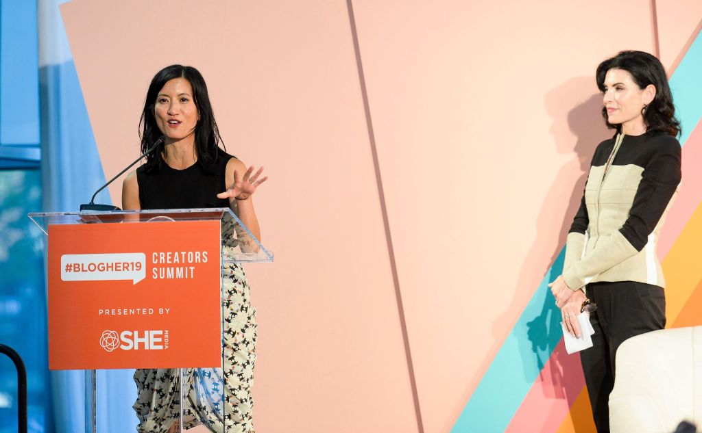 Joanne Ramos and Julianna Margulies#BlogHer19 Creators Summit at Brooklyn EXPO Center, New York, USA - 19 Sep 2019