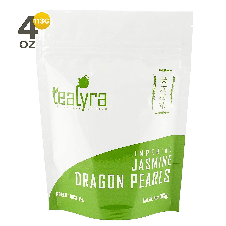 Tealyra - Imperial Jasmine Dragon Pearls - Loose Leaf Green Tea
