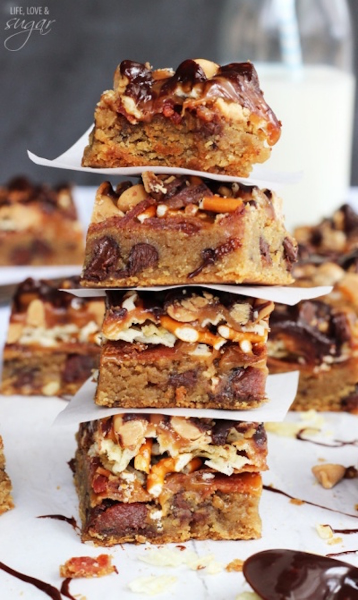 Beer, Bacon, and Potato Chip Cookie Bars