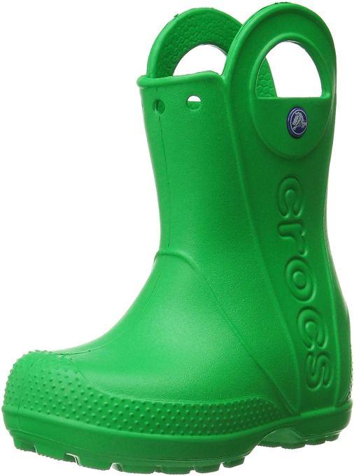 Fall 2019 kids' shoes Crocs Handle It Rain Boot in grass green