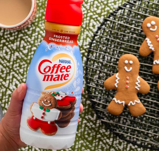 Frosted gingerbread creamer