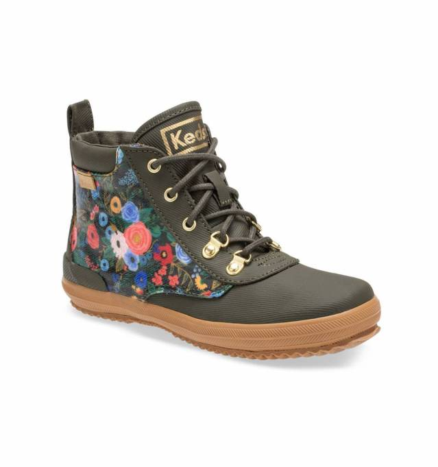 Fall 2019 kids' shoes Rifle Paper Co. x Keds Olive Garden Party water-resistant sneakers