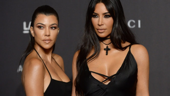 Kourtney-Kardashian and Kim Kardashian West