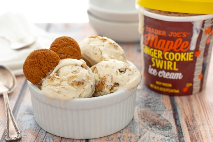 Maple ginger ice cream