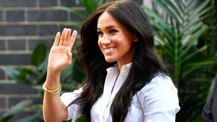 Britain's Meghan, Duchess of Sussex leaves