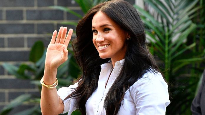 Britain's Meghan, Duchess of Sussex leaves