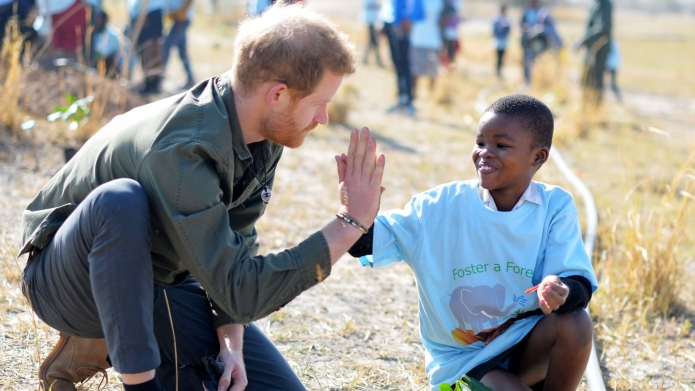 Prince Harry Africa Tour