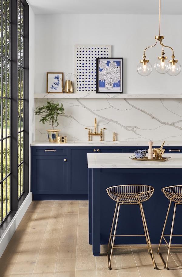 Sherwin-Williams Naval kitchen