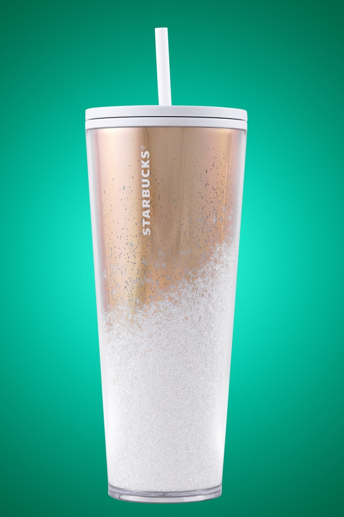 Mirror Glitter Gold Cold Cup