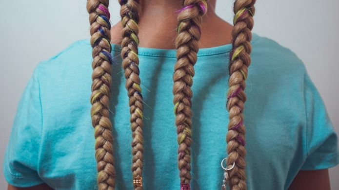 African American boy braids