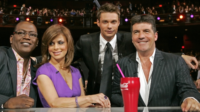 'American Idol' cast Randy Jackson, Paula Abdul, Ryan Seacrest and Simon Cowell.