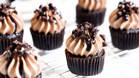 Chocolate cupcakes with chocolate butter cream