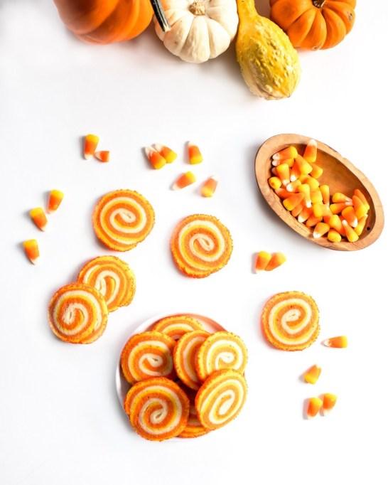 Candy Corn Pinwheel Sugar Cookies