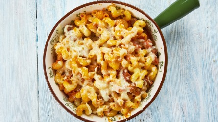 Homemade Cheeseburger Macaroni Skillet, large skillet,