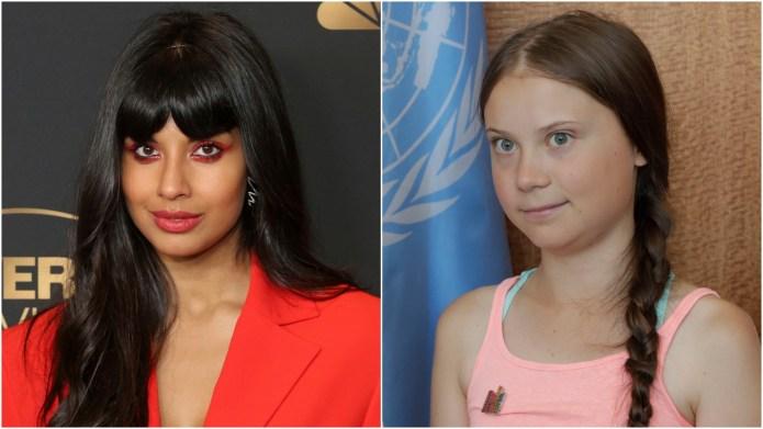 Jameela Jamil; Greta Thunberg.