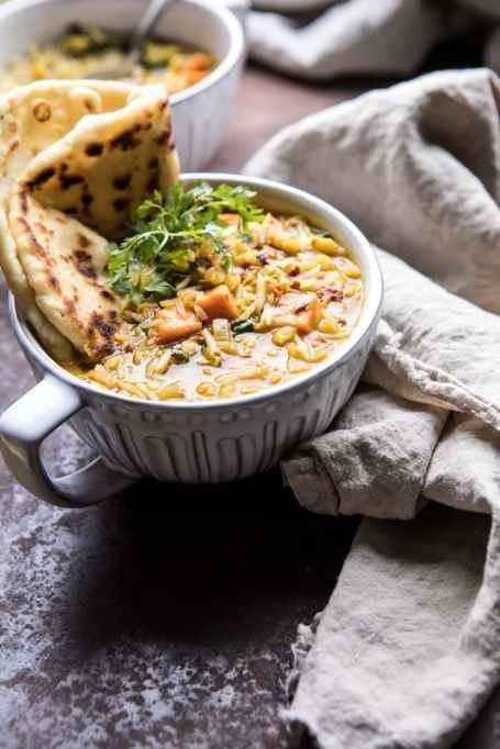 Instant Pot Coconut-Sweet Potato-Lentil Soup With Rice