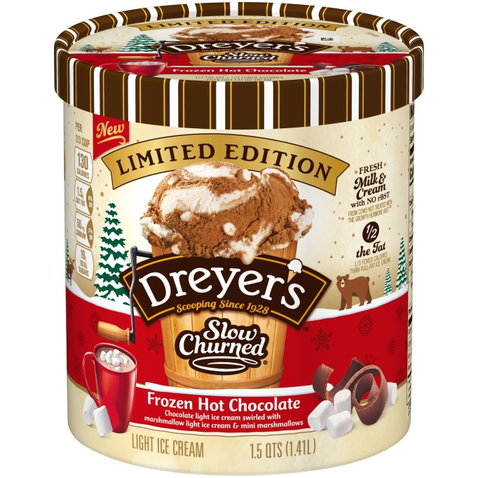 Dreyer's slow-churned frozen hot chocolate ice cream