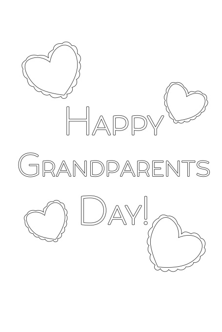 Happy Grandparents Day Hearts Card