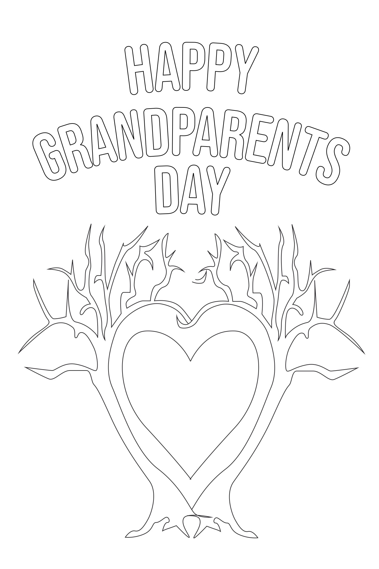 picture regarding Printable Grandparents Day Card named Tremendous Cute Printable Grandparents Working day Playing cards for Children