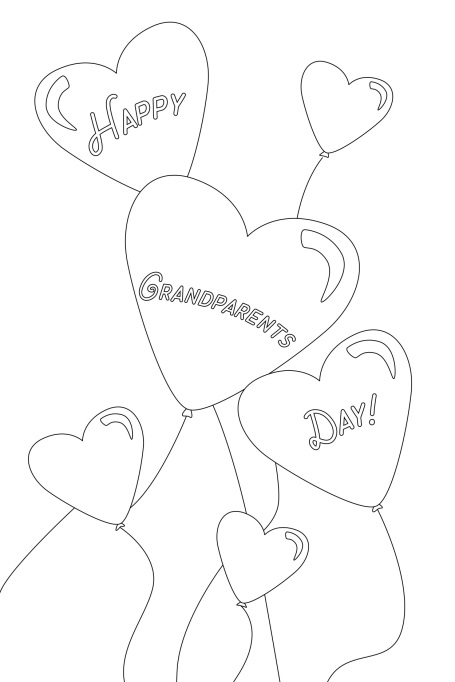 Happy Grandparents Day Balloon Card
