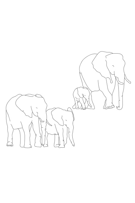 Grandparents Day Elephants Card