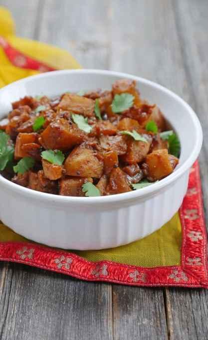 Instant Pot Shalgam ki Sabzi (Indian Turnips)