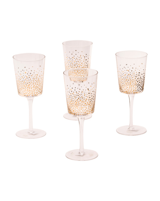 Jay Import Gold Wine Goblets