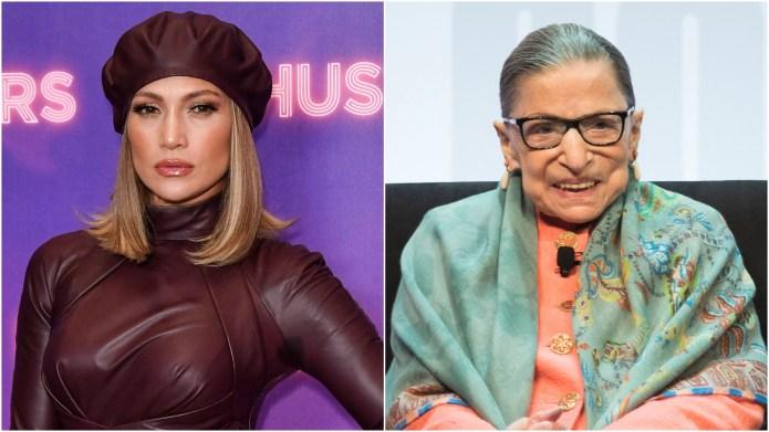 Jennifer Lopez & Ruth Bader Ginsburg.