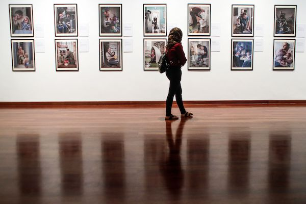 The work 'Swedish Dads' by Swedish photographer Johan Bavman during the Kuala Lumpur Biennale 2017 International Arts Exhibition at the National Arts Gallery, in Kuala Lumpur, 22 November 2017. Kuala Lumpur Biennale 2017 is a big-scale international contemporary art program organized by the National Arts Gallery of Malaysia and will run until the end of March 2018.Kuala Lumpur Biennale 2017 International Arts Exhibition, Malaysia - 22 Nov 2017
