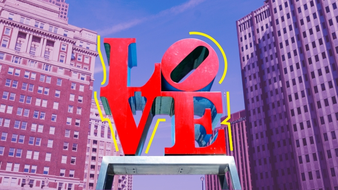Philadelphia travel Love sign