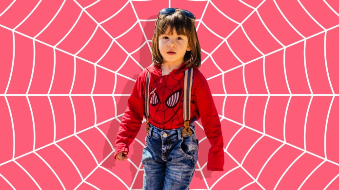 Daughter spiderman costume