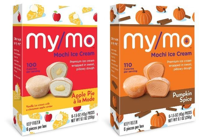 My/Mo Mochi Ice Cream pumpkin spice and apple pie á la mode