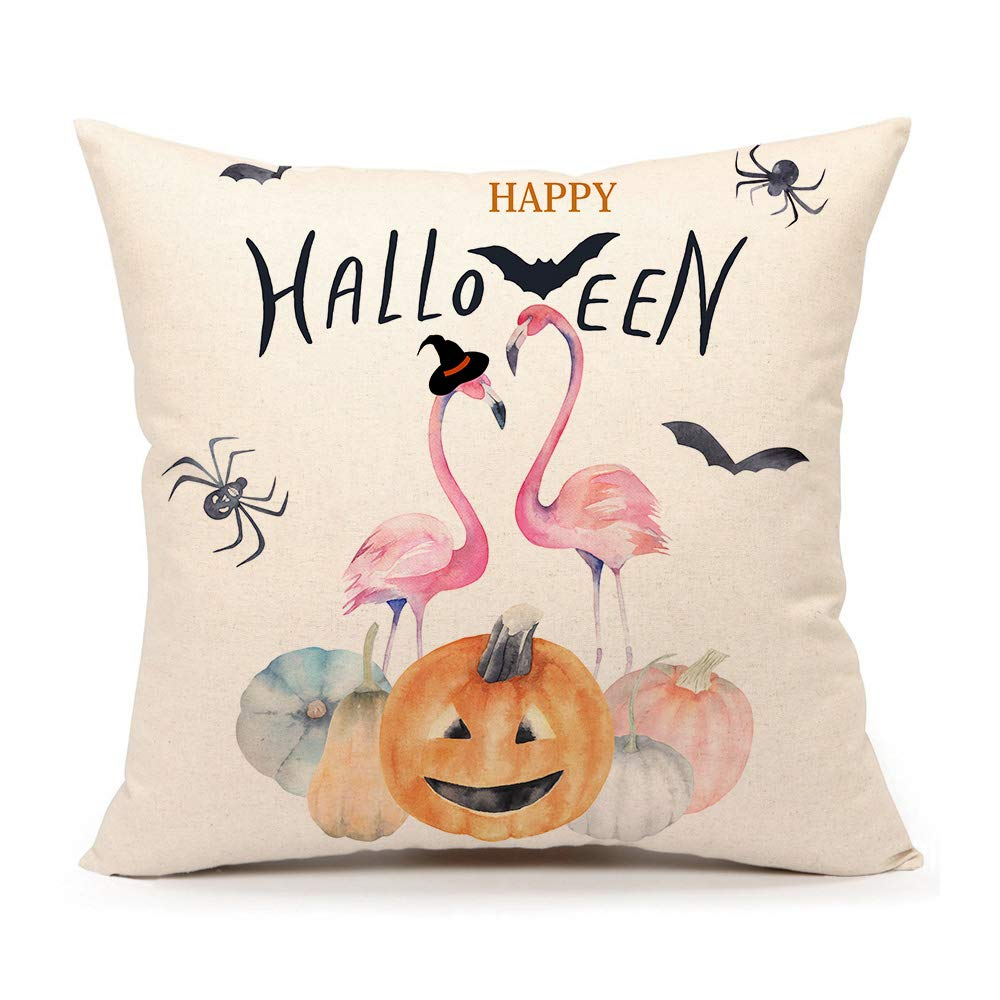 4TH Emotion Happy Halloween Throw Pillow Cover