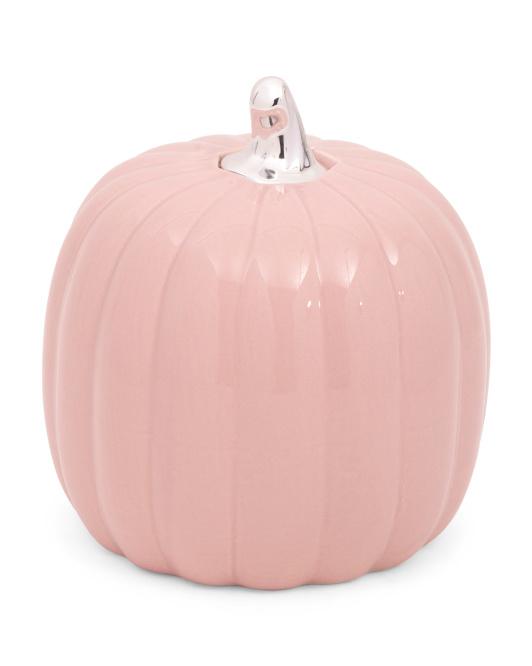 Bayberry Orchard Glazed Ceramic Pumpkin