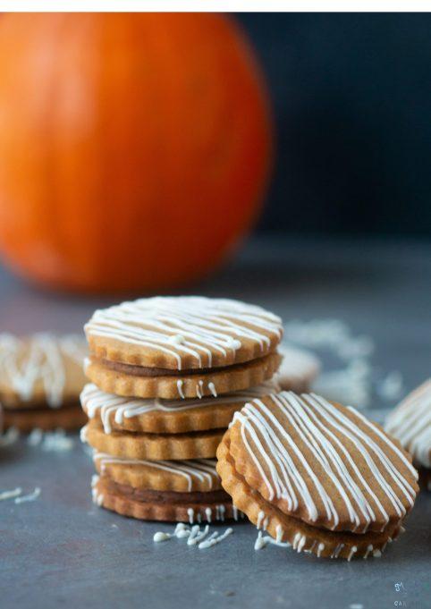 Pumpkin Spice Latte Sandwich Cookies