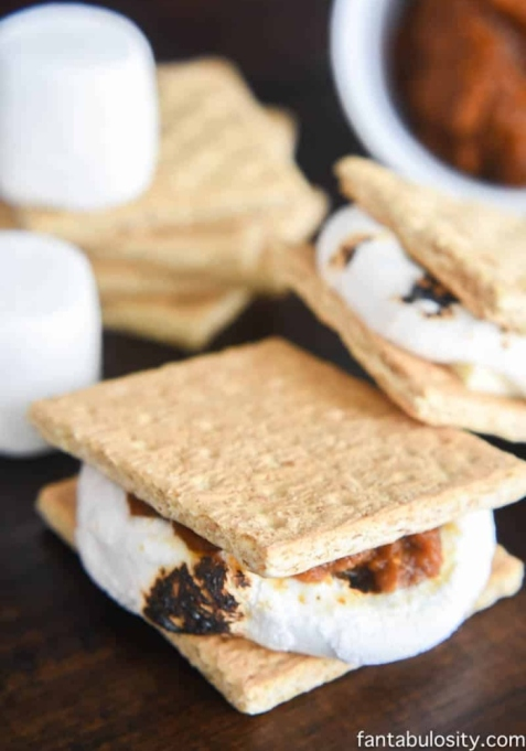 Pumpkin White Chocolate S'mores.