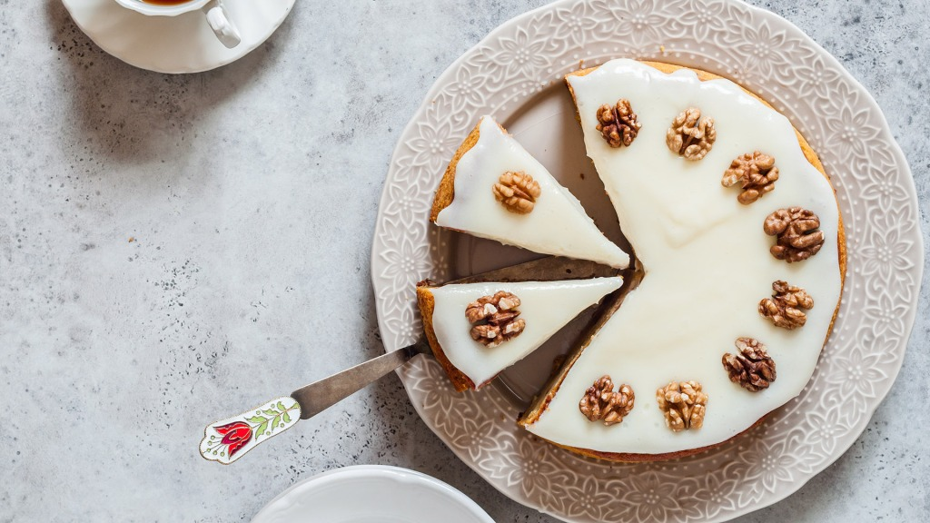 Sliced Pumpkin Cake with Walnuts and