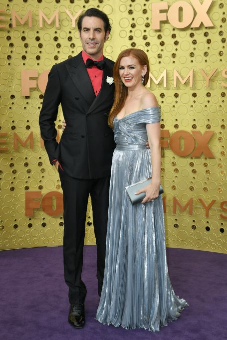 Sacha Baron Cohen and Isla Fisher71st Annual Primetime Emmy Awards, Arrivals, Microsoft Theatre, Los Angeles, USA - 22 Sep 2019