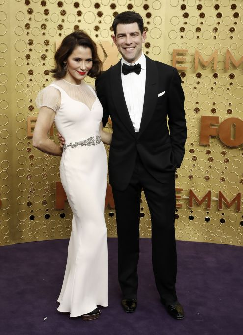 Max Greenfield and Tess Sanchez (L) arrives for the 71st annual Primetime Emmy Awards ceremony held at the Microsoft Theater in Los Angeles, California, USA, 22 September 2019. The Primetime Emmys celebrate excellence in national primetime television broadcasting.Arrivals - 71st Primetime Emmy Awards, Los Angeles, USA - 22 Sep 2019