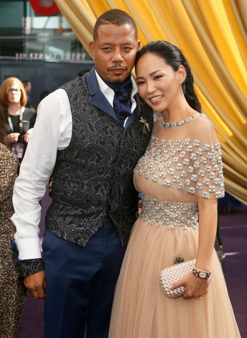 Terrence Howard, Mira Pak. Terrence Howard and Mira Pak arrive at the 71st Primetime Emmy Awards, at the Microsoft Theater in Los Angeles71st Primetime Emmy Awards - Red Carpet, Los Angeles, USA - 22 Sep 2019