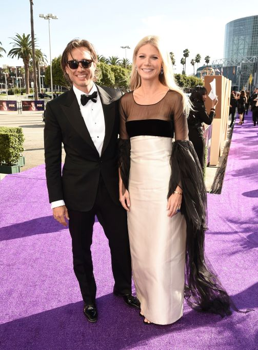 Brad Falchuk, Gwyneth Paltrow. Brad Falchuk, left, and Gwyneth Paltrow arrive at the 71st Primetime Emmy Awards, at the Microsoft Theater in Los Angeles71st Primetime Emmy Awards - Limo Drop Off, Los Angeles, USA - 22 Sep 2019